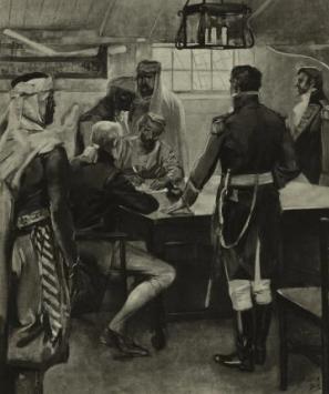 Берберийские пираты атакуют торговый