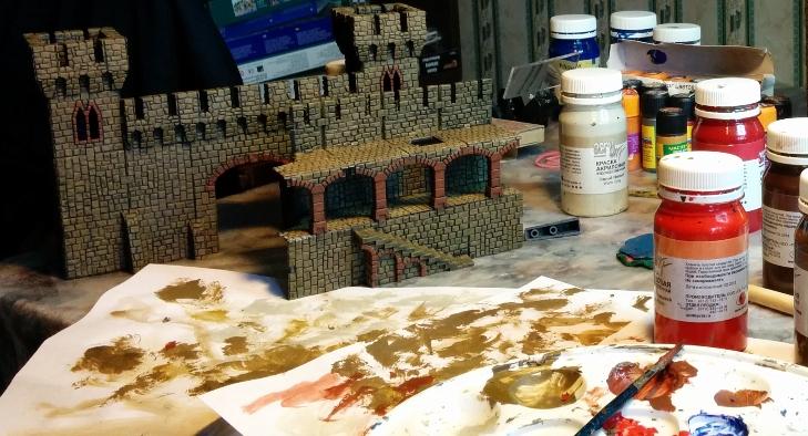 Советы по раскраске военных миниатюр на примере покраски замка крестоносцев Castle Craft